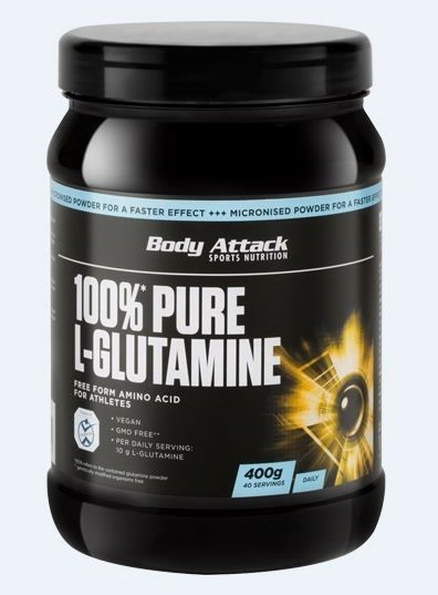 Body Attack 100 % pure glutamine 400 g 80 servings